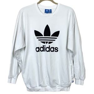 Adidas Pullover White Size M